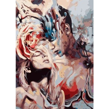 Paint By Numbers When A Man Loves A Woman 50x70- Leveranstid 1-3 Dagar