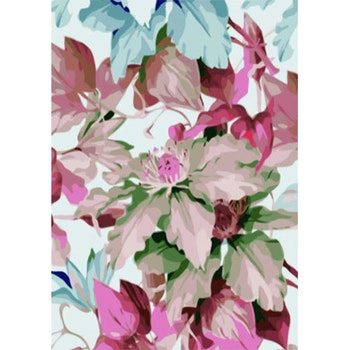 Paint By Numbers Flowers Soft Colors 50x70- Leveranstid 1-3 Dagar