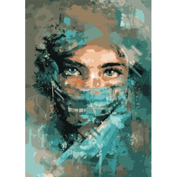 Paint By Numbers Nurse 50x70- Leveranstid 1-3 Dagar
