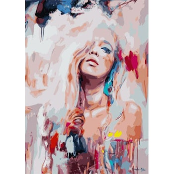 Paint By Numbers Color Girl 50x70- Leveranstid 1-3 Dagar