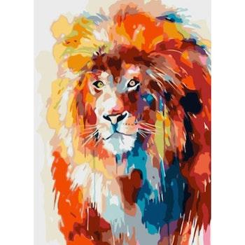 Paint By Numbers Color Lion 50x70- Leveranstid 1-3 Dagar