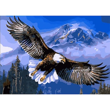 Paint By Numbers Eagle 50x70- Leveranstid 1-3 Dagar