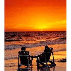 Diamanttavla Couple Ocean Sunset 60x80 - Leveranstid 1-3 Dagar
