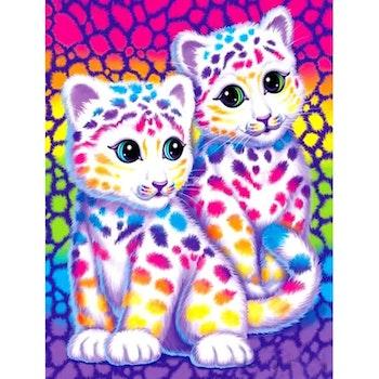 Diamanttavla Color Baby Leopard 30x40 - Leveranstid 1-3 Dagar