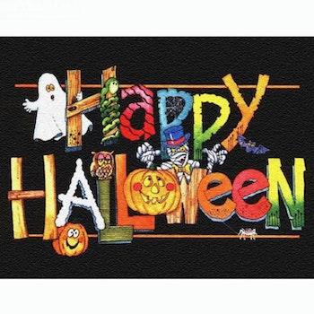 Diamanttavla Happy Halloween 40x50 - Leveranstid 1-3 Dagar
