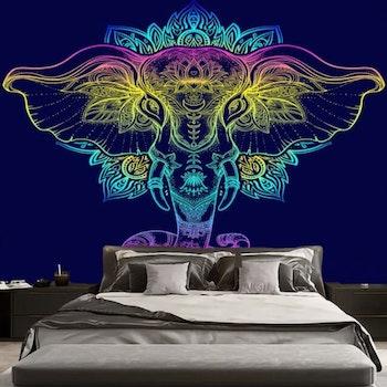 Gobeläng Tapestry Color Elephant 150x150 cm - Leveranstid 1-3 Dagar
