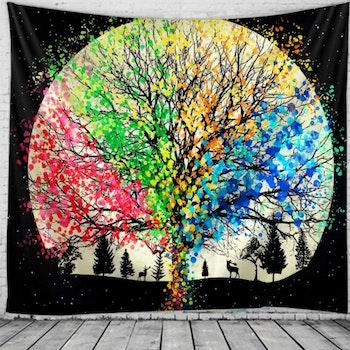 Gobeläng Tapestry Color Tree 150x150 cm - Leveranstid 1-3 Dagar