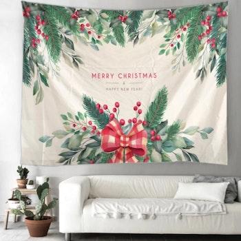 Gobeläng Tapestry Merry Christmas Mistel 150x130  cm - Leveranstid 1-3 Dagar