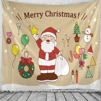 Gobeläng Tapestry Santa With Star 150x130 cm - Leveranstid 1-3 Dagar