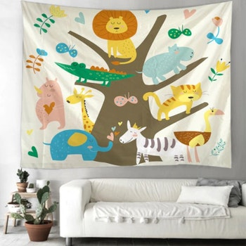 Gobeläng Tapestry Animal Tree 130x150 cm - Leveranstid 1-3 Dagar