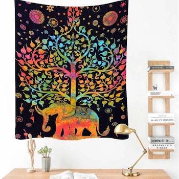 Gobeläng Tapestry Tree Elephant 150x130 cm - Leveranstid 1-3 Dagar