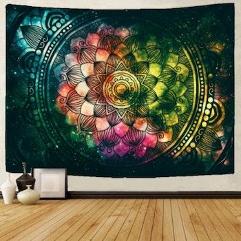 Gobeläng Tapestry Colorful Mandala 150x130 cm - Leveranstid 1-3 Dagar