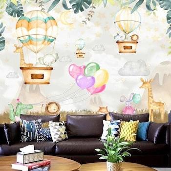 Gobeläng Tapestry Jungeldjur Ballonger 230x180 Cm - Leveranstid 1-3 Dagar