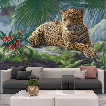 Gobeläng Tapestry Leopard 230x180 Cm - Leveranstid 1-3 Dagar
