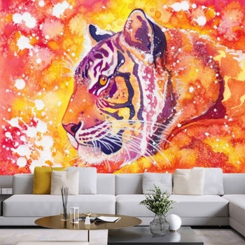 Gobeläng Tapestry Tiger 150x100 Cm - Leveranstid 1-3 Dagar