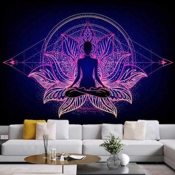 Gobeläng Tapestry Lotus Meditation 200x150 Cm - Leveranstid 1-3 Dagar