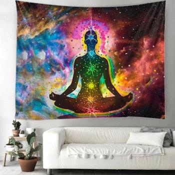 Gobeläng Tapestry Chakra Meditation 150x100 Cm - Leveranstid 1-3 Dagar
