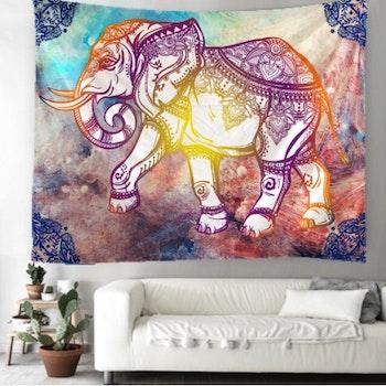 Gobeläng Tapestry Mandala Elephant 130x150 Cm - Leveranstid 1-3 Dagar