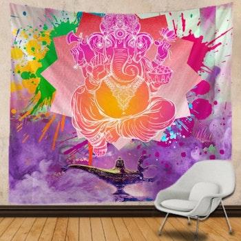 Gobeläng Tapestry Ganesha Lamp 150x150 Cm - Leveranstid 1-3 Dagar