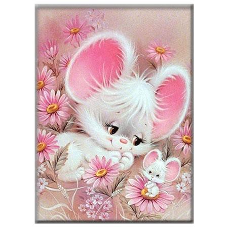 Diamanttavla (R) Cute Mouse 30x40