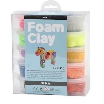 Foam Clay® Mixade Färger 10x35G - Leveranstid 1-3 Dagar