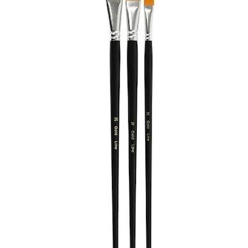 Gold Line Penslar Platt 31+32+33,5 mm - Leveranstid 1-3 Dagar