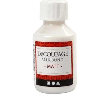 Decoupagelack Matt 100 ml - Leveranstid 1-3 Dagar