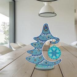 Diamond Painting Bordsdekoration Gran Blå Mandala - Leveranstid 1-3 Dagar