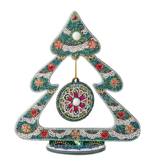 Diamond Painting Bordsdekoration Gran Mandala Grön - Leveranstid 1-3 Dagar