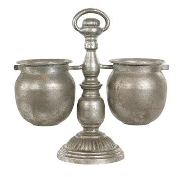 Kruka Stativ Silver 29x12x28 cm  - Leveranstid 1-3 Dagar
