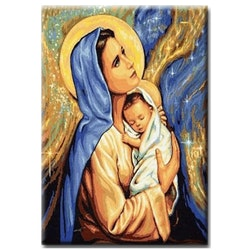 Diamanttavla Mary And Child 50x70