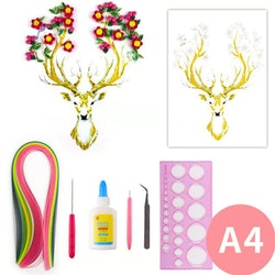 Quilling Deer A4