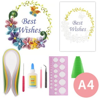 Quilling Best Wishes A4