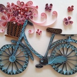 Quilling Cykel A4