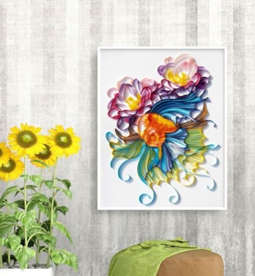 Quilling Fish And Flowers A4