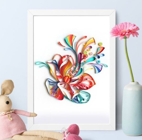 Quilling Color Flower A4