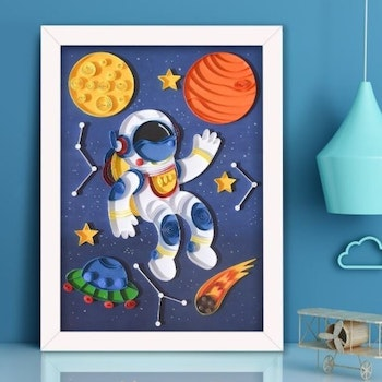 Quilling Spaceman A4