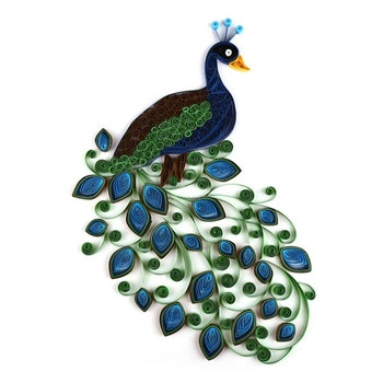 Quilling Peacock A4