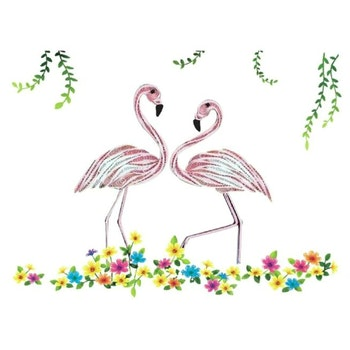 Quilling Flamingos A4 - Leveranstid 1-3 Dagar