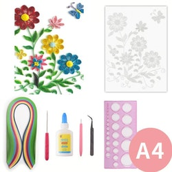 Quilling Sommarblommor A4