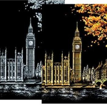Scratch Painting Big Ben 41x28,7 cm - Leveranstid 1-3 Dagar