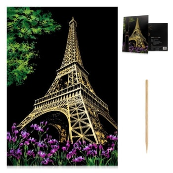 Scratch Painting Eiffeltornet 41x28,7 cm - Leveranstid 1-3 Dagar