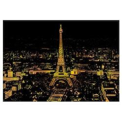 Scratch Painting Paris 41x28,7 cm - Leveranstid 1-3 Dagar