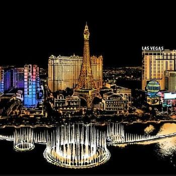 Scratch Painting Las Vegas 41x28,7 cm - Leveranstid 1-3 Dagar