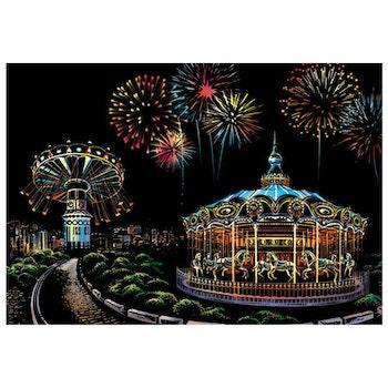Scratch Painting Amusement Park 41x28,7 cm - Leveranstid 1-3 Dagar