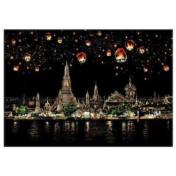 Scratch Painting Thailand 41x28,7 cm - Leveranstid 1-3 Dagar