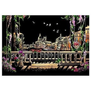 Scratch Painting Venice 41x28,7 cm - Leveranstid 1-3 Dagar