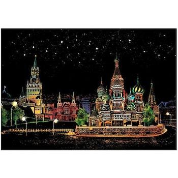Scratch Painting  Red Square 41x28,7 cm - Leveranstid 1-3 Dagar