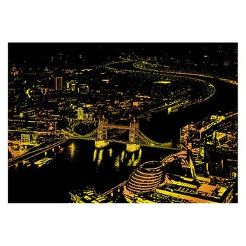Scratch Painting London 41x28,7 cm - Leveranstid 1-3 Dagar