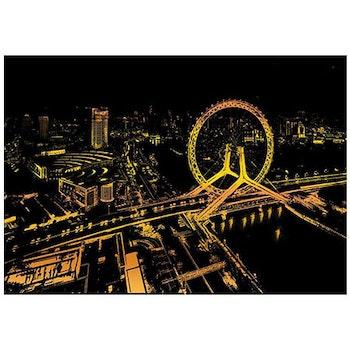 Scratch Painting Bright City 41x28,7 cm - Leveranstid 1-3 Dagar